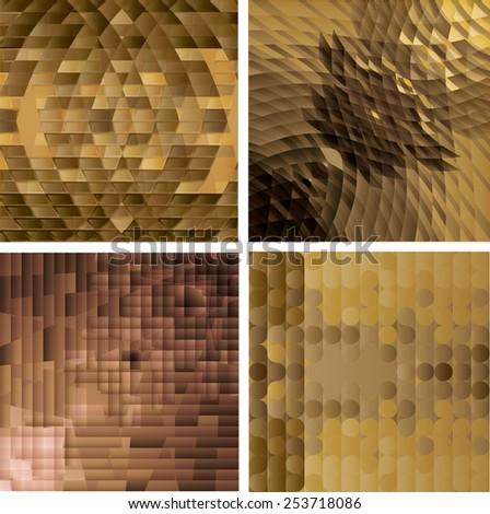 Blinking Glitter Background. Glitter on Sequins Mosaic Pattern. Vector Illustration.  - stock vector