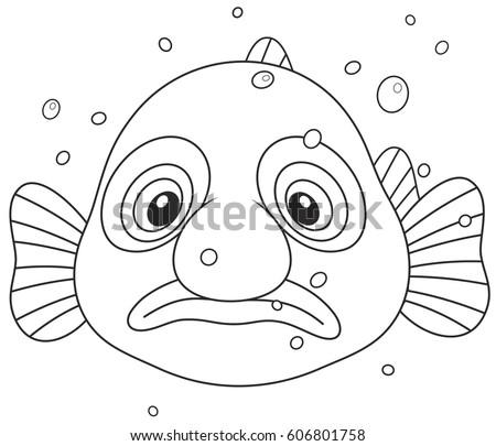 Blob Fish Stock Vector Royalty Free 606801758