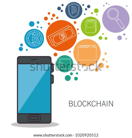 blockchain and bitcoin technology concept