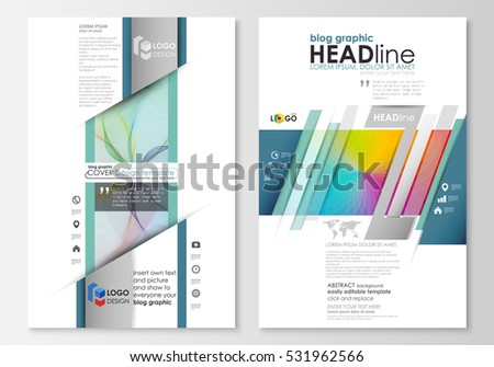 Blog Graphic Business Templates Page Website Stock Vector 631150955 ...