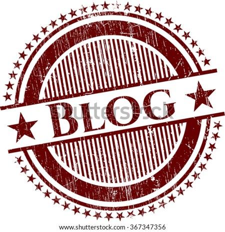 Blog grunge stamp - stock vector