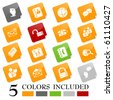 Blog icons - sticky series. EPS includes each icon in 5 colors. - stock vector