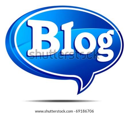 Blog Speech Bubble - stock vector