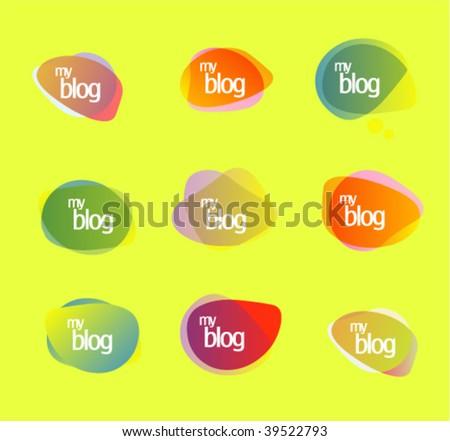 Blog symbols - stock vector