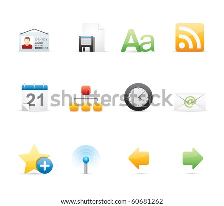 Blogging icon set 3 - Glossy Series.  Vector EPS 8 format, easy to edit. - stock vector