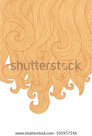 blonde hair - stock vector