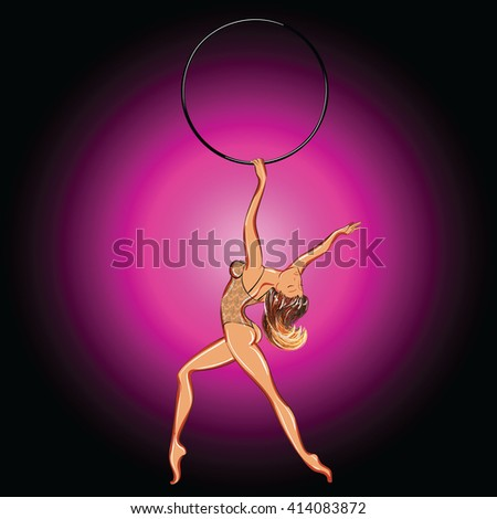 Blonde stripper in lacy bodysuit. Freehand drawing. - stock vector