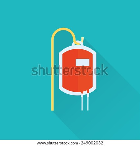blood bag icon - stock vector