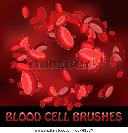 blood cell brushes - stock vector