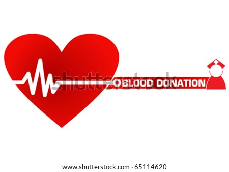 Blood Donation Concept Illustration in Vector - stock vector