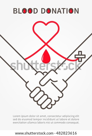 Blood donation stock images royalty free images vectors blood donation handshake vector illustration with red heart and sample text blood donation poster with altavistaventures Choice Image