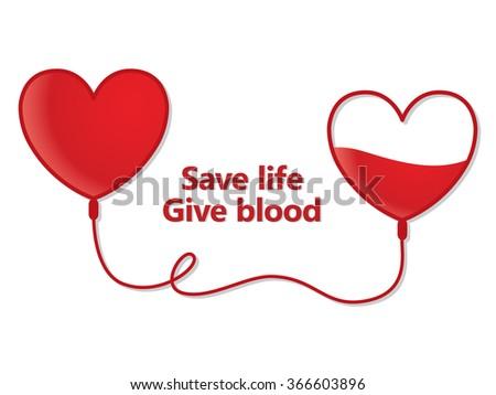 Blood donation illustration - stock vector