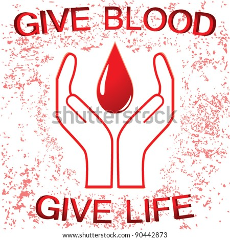 Blood donation sign vector - stock vector