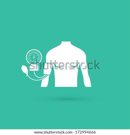 Blood pressure measuring sign - vector illustration - stock vector