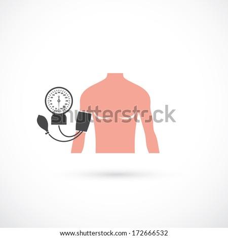 Blood pressure symbol - vector illustration - stock vector