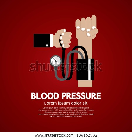 Blood Pressure Vector Illustration - stock vector