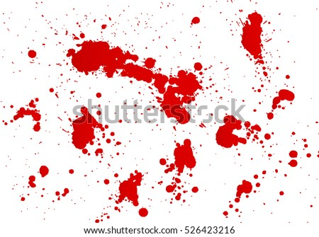 Blood splashes hand made tracing from sketch Vector Illustration