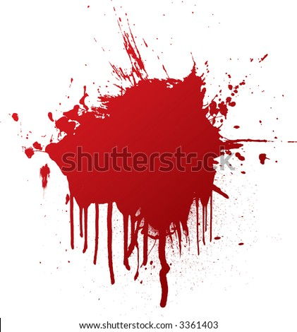 blood splat with dribble that can be used as a background - stock vector