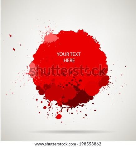 blood splats.  vector red blood splashes,each splash is grouped individually ,so you can modify it as you want.  - stock vector