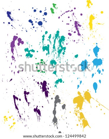 Blood splatter - stock vector