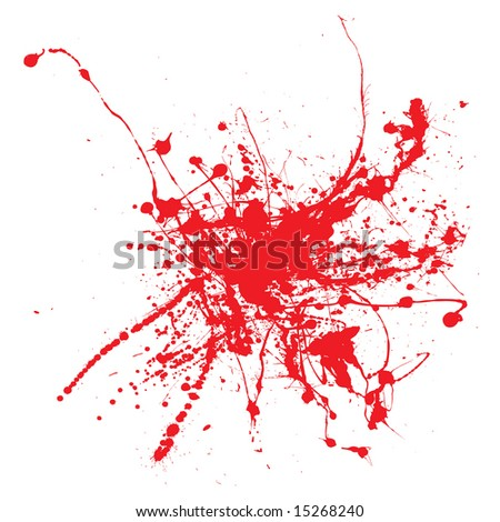 Blood splatter on a white background isolated illustration