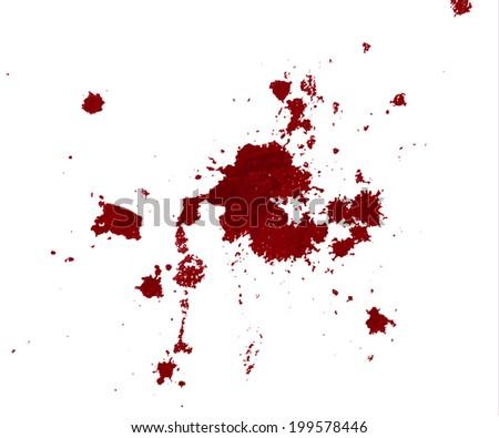 Blood splatter  on white background - stock vector