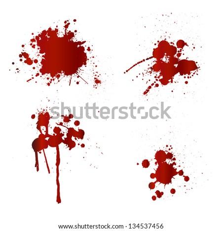 Blood splatters - stock vector