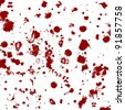 blood splatters, vector - stock photo