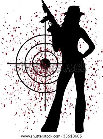 blood sport - stock vector