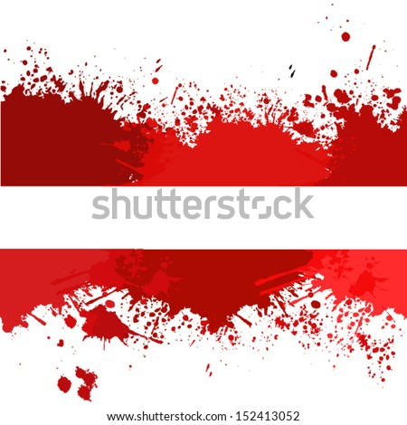 blood stains. vector  - stock vector