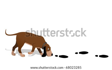Bloodhound - stock vector