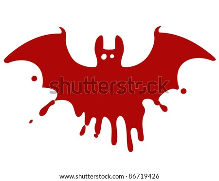Bloody bat - stock vector