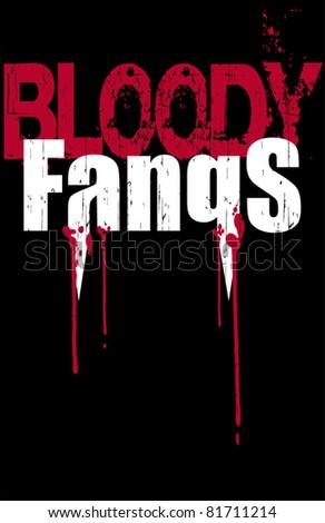bloody fangs - stock vector