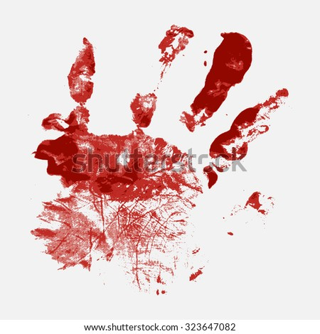 Bloody Hand-Print Vector