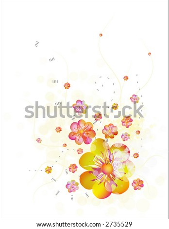 blooming bubbles - stock vector