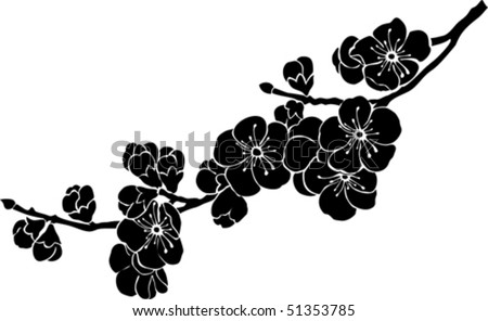 blossom cherry - stock vector