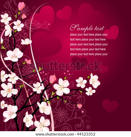 Blossoming tree - stock vector