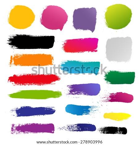 Blots For Design, Vector Illustration - stock vector