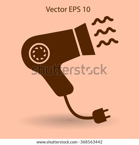 Blow-dry vector icon