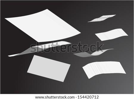 Blown paper. - stock vector