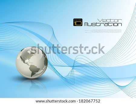 Blue abstract background composition with room for your text - stock vector