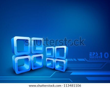 Blue abstract background. EPS 10. - stock vector