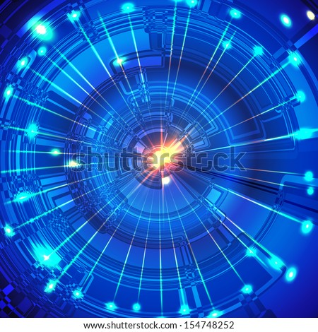 Blue abstract background.The illustration contains transparency and effects. EPS10 - stock vector