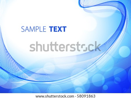 Blue abstract background. Vector - stock vector