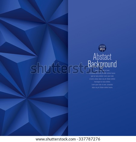 Blue abstract background vector. Can be used in cover design, book design, website background, CD cover or advertising. - stock vector