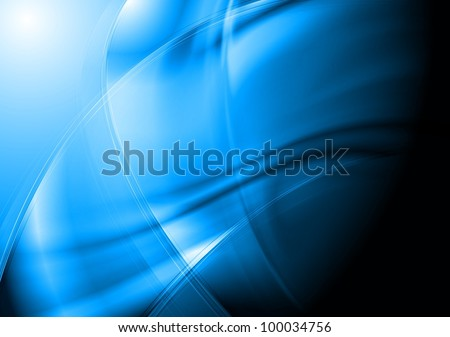 Blue abstract background. Vector eps 10 - stock vector