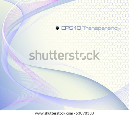 Blue abstract background - vector illustration - stock vector