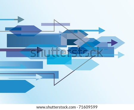 Blue abstract background with arrows. Vector illustration - stock vector