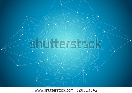 Blue Abstract Background with Circles, Lines and Shapes | EPS10 Design Layout for Your Business. Space network. - stock vector
