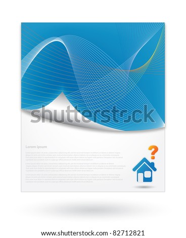 Blue Abstract Background with free space for text - stock vector